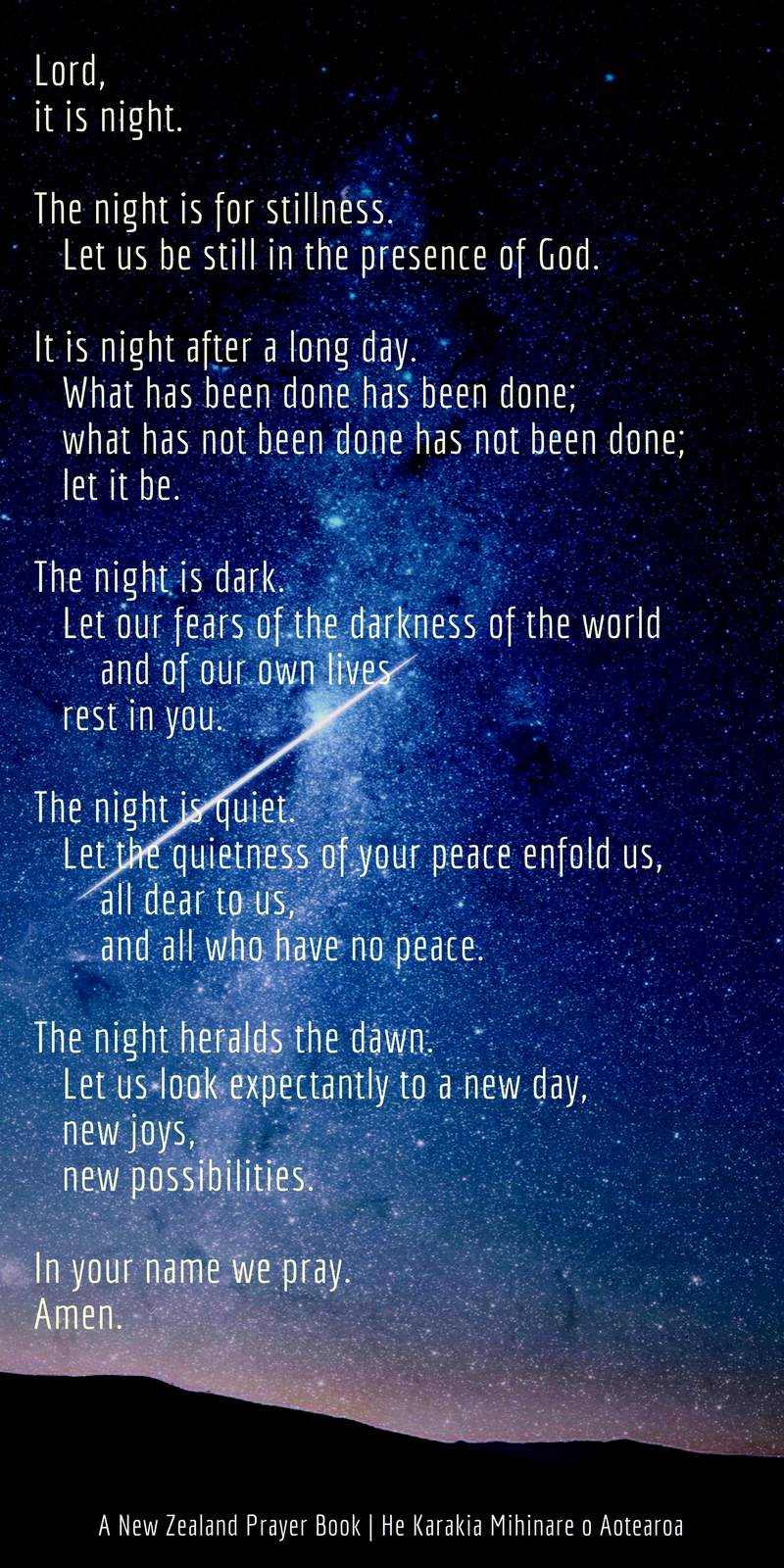A Prayer Before Sleep What Has Not Been Done Sacraparental