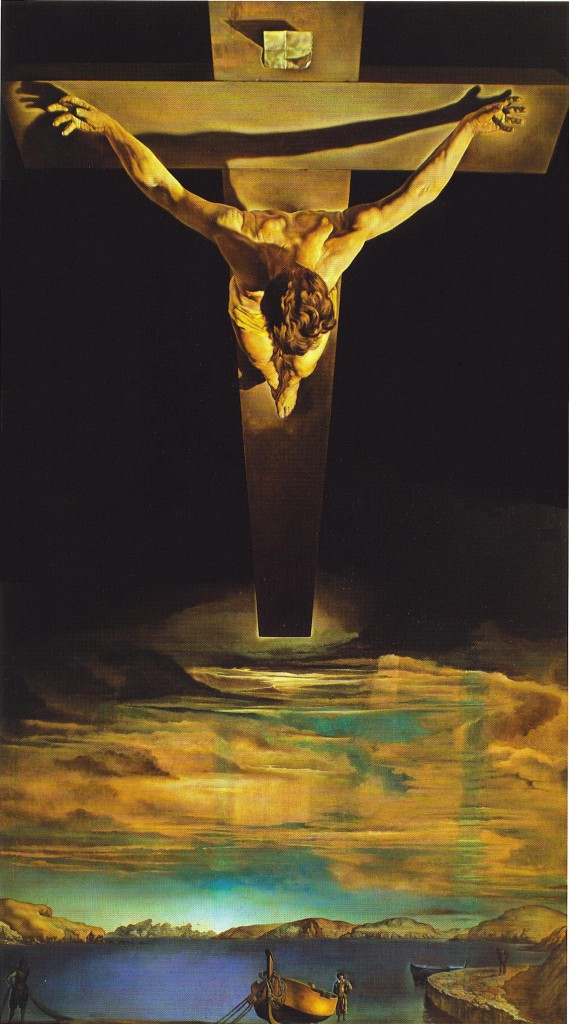 Christ of Saint John of the Cross, Salvador Dali | Bible readings and art works for Maundy Thursday, Service of the Shadows (Tenebrae Service for Easter Week) | Sacraparental.com