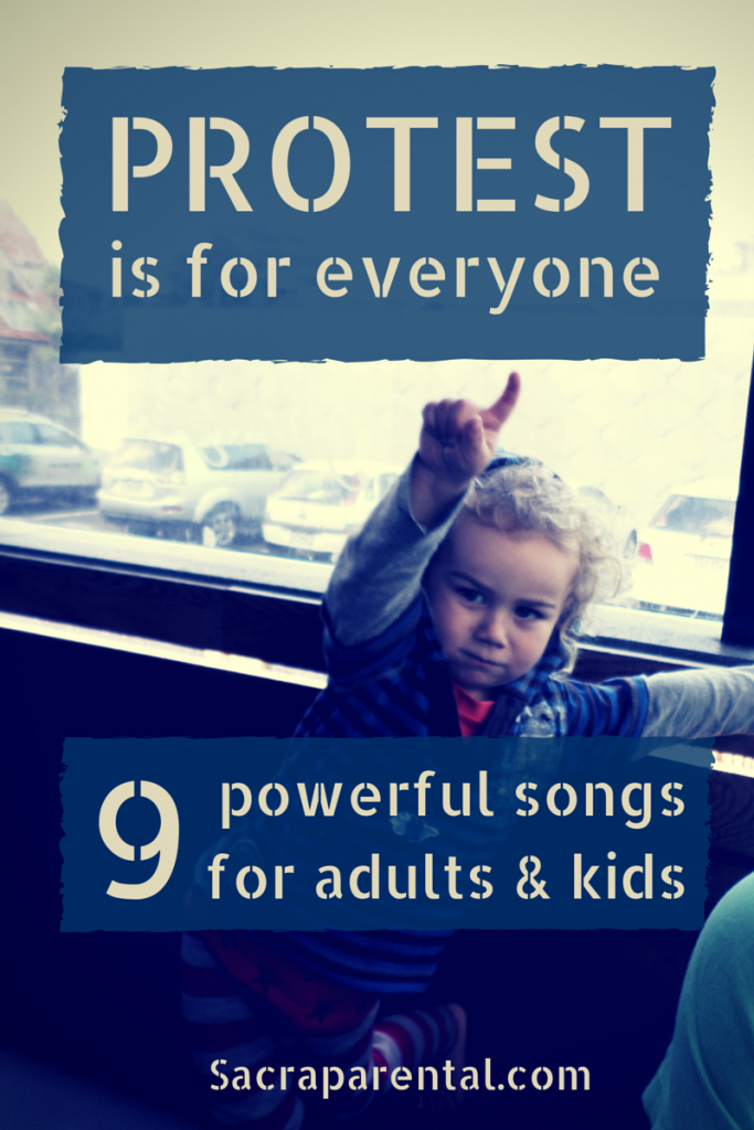 A great list of good music for kids and adults. Make a noise and change the world! | Sacraparental.com