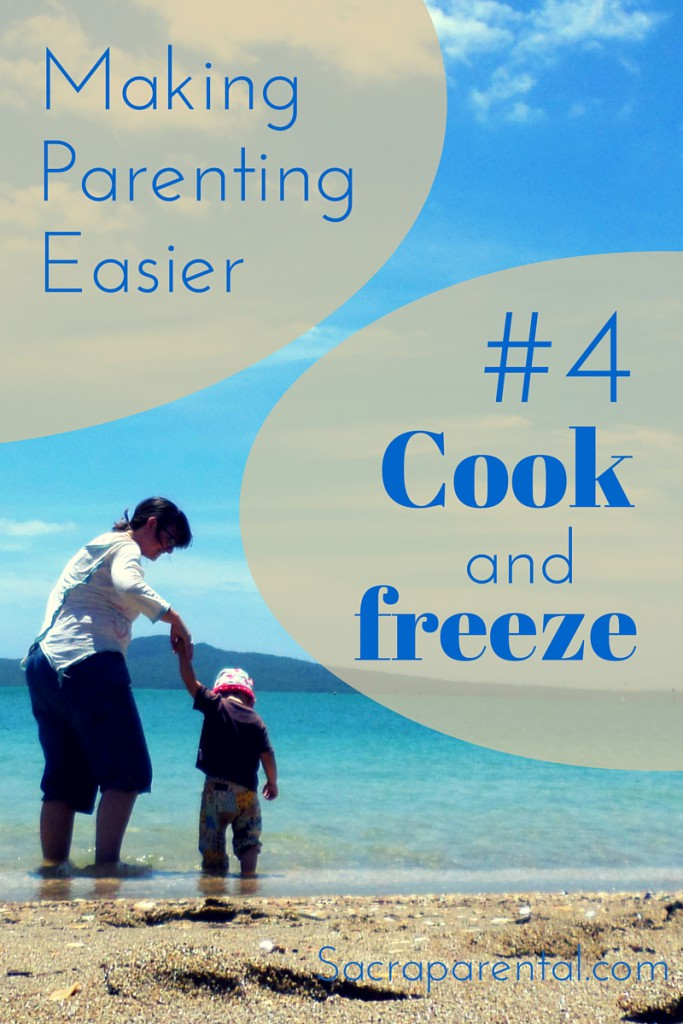 This has changed my life! Cook big meals, freeze them, and serve through the week. | Sacraparental.com