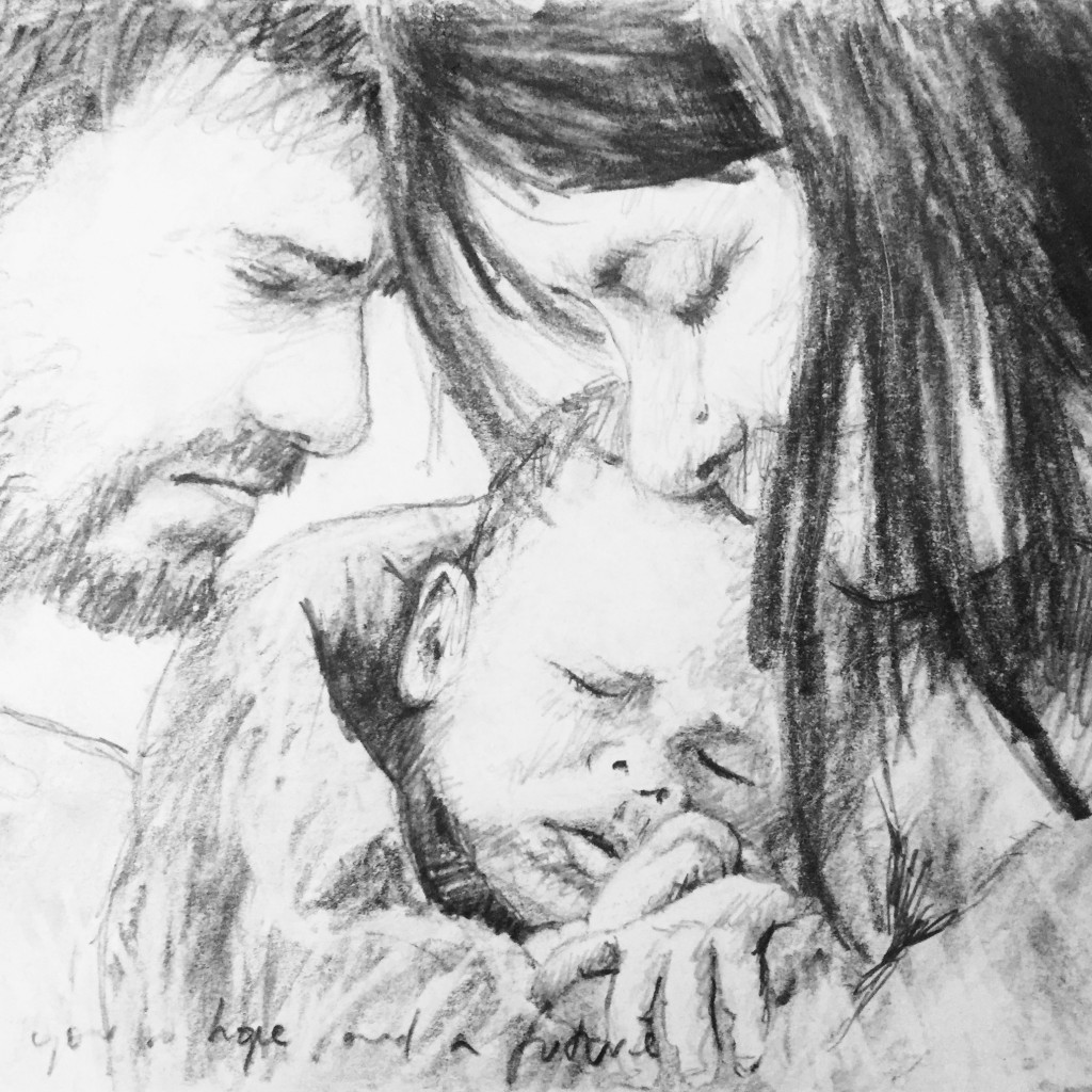 Michael Henderson, Untitled 9. ...plans to give you a future, work in progress.   Painting, parenting and pastoring   Sacraparental.com