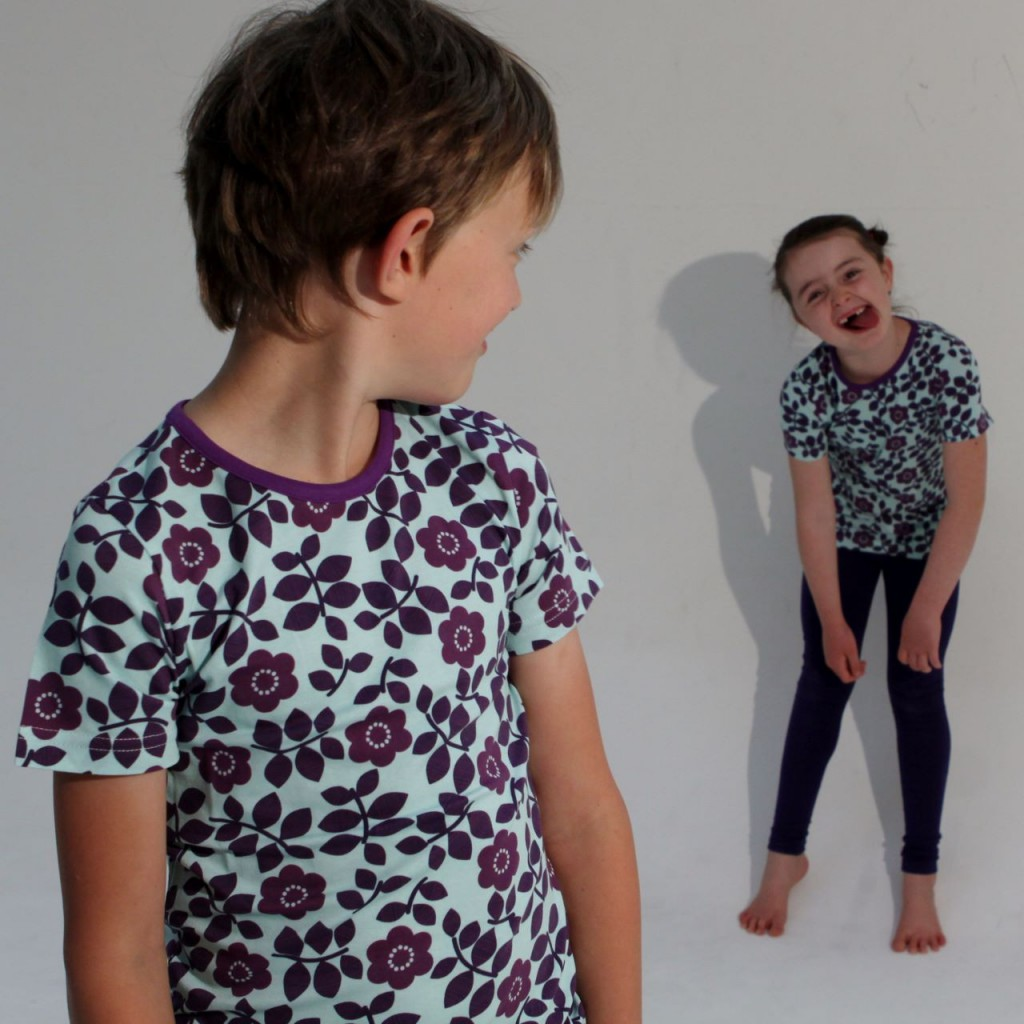More than a fling purple flowers t-shirt Freedom Kids | 'Colours are for everyone!' - one of a great list of phrases for feminist parenting | Sacraparental.com