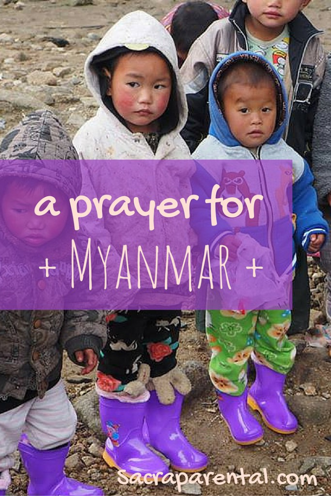 A prayer for the nation of Myanmar, or Burma, as it cautiously tries out democracy and we have hope for the millions of oppressed people there. In this image, children from the Kachin ethnic group, living in a camp, had no shoes when it started snowing earlier this year. Partners was pleased to be able to supply these terrific boots for them. Read more about that story on the Partners blog.