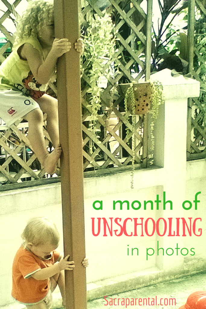 A month of unschooling in photos: What did learning look like in June for my unschooling kids?   Sacraparental.com