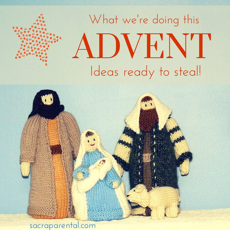 What we're doing this Advent - lots of ideas to steal!  Sacraparental