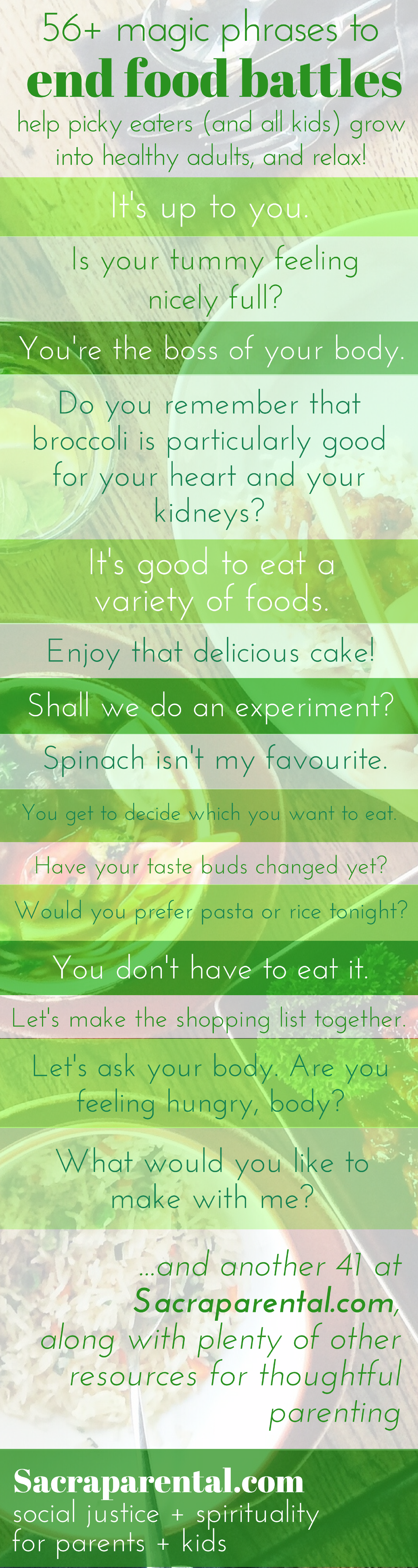 56+ magic phrases to end food battles with picky eaters