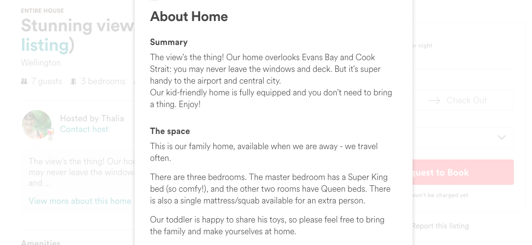 Screen shot of our listing: click through to read it more easily.