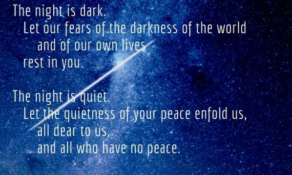 One of my very favourite prayers: Night Prayer - A New Zealand Prayer Book   Sacraparental.com