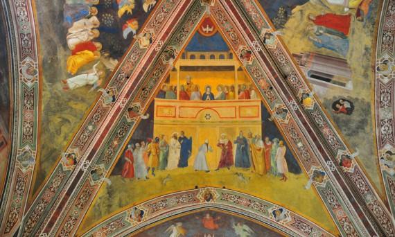Pentecost resources for everyone! And a Fresco by Andrea di Bonaiuto (sometimes called Andrea da Firenze), photograph, Ben Miller | Sacraparental.com