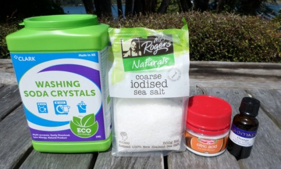 Green Cleaning: ingredients for home made dishwasher detergent